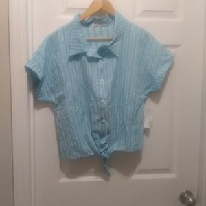 Francesca's brand Mi Ami button up shirt XL